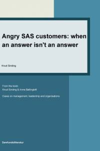 Angry SAS customers - when an answer is not an answer af Knud Sinding