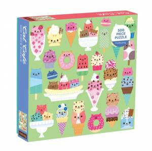 Cat Cafe 500 Piece Puzzle by Galison Mudpuppy